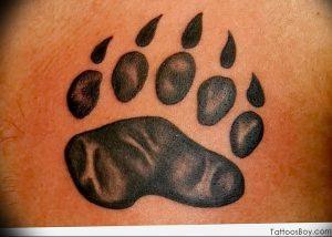 фото тату медвежья лапа от 30.09.2017 №007 - bear paw tattoo - tattoo-photo.ru