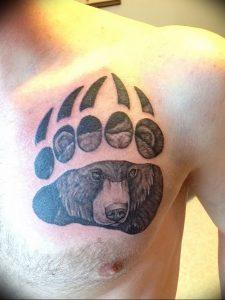 фото тату медвежья лапа от 30.09.2017 №009 - bear paw tattoo - tattoo-photo.ru