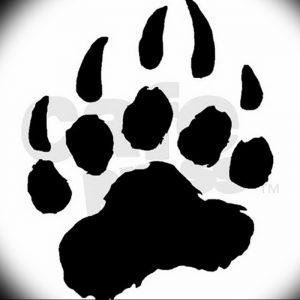 фото тату медвежья лапа от 30.09.2017 №010 - bear paw tattoo - tattoo-photo.ru