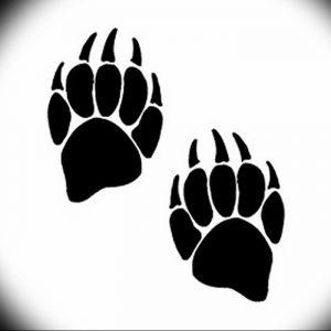 фото тату медвежья лапа от 30.09.2017 №012 - bear paw tattoo - tattoo-photo.ru