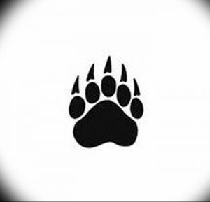 фото тату медвежья лапа от 30.09.2017 №035 - bear paw tattoo - tattoo-photo.ru