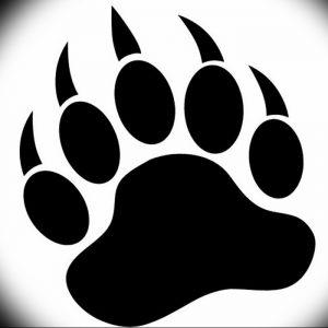 фото тату медвежья лапа от 30.09.2017 №036 - bear paw tattoo - tattoo-photo.ru