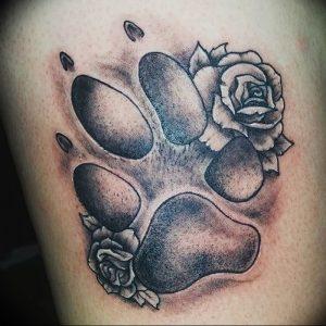 фото тату медвежья лапа от 30.09.2017 №038 - bear paw tattoo - tattoo-photo.ru