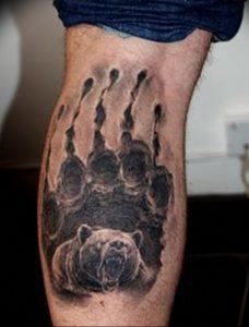 фото тату медвежья лапа от 30.09.2017 №044 - bear paw tattoo - tattoo-photo.ru