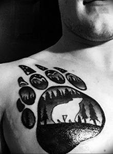 фото тату медвежья лапа от 30.09.2017 №047 - bear paw tattoo - tattoo-photo.ru