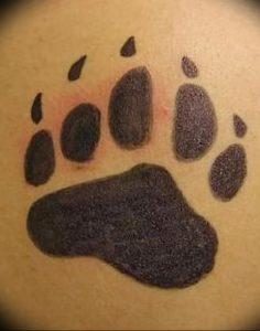 фото тату медвежья лапа от 30.09.2017 №048 - bear paw tattoo - tattoo-photo.ru