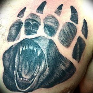 фото тату медвежья лапа от 30.09.2017 №054 - bear paw tattoo - tattoo-photo.ru