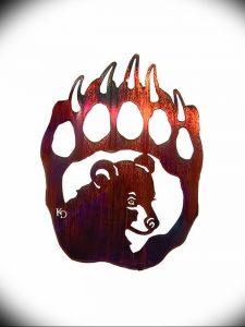 фото тату медвежья лапа от 30.09.2017 №055 - bear paw tattoo - tattoo-photo.ru
