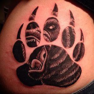 фото тату медвежья лапа от 30.09.2017 №070 - bear paw tattoo - tattoo-photo.ru