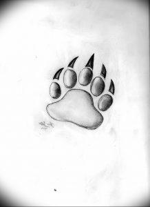 фото тату медвежья лапа от 30.09.2017 №071 - bear paw tattoo - tattoo-photo.ru 151223155 62342