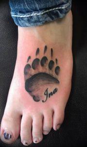 фото тату медвежья лапа от 30.09.2017 №084 - bear paw tattoo - tattoo-photo.ru