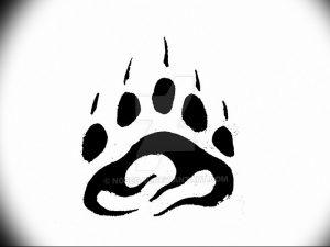фото тату медвежья лапа от 30.09.2017 №087 - bear paw tattoo - tattoo-photo.ru