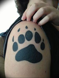 фото тату медвежья лапа от 30.09.2017 №089 - bear paw tattoo - tattoo-photo.ru