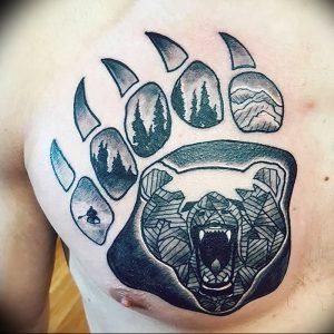 фото тату медвежья лапа от 30.09.2017 №090 - bear paw tattoo - tattoo-photo.ru