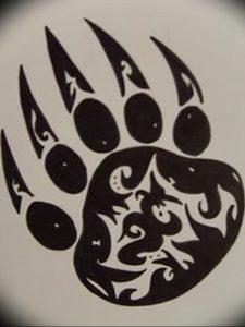 фото тату медвежья лапа от 30.09.2017 №093 - bear paw tattoo - tattoo-photo.ru