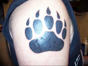 фото тату медвежья лапа от 30.09.2017 №106 - bear paw tattoo - tattoo-photo.ru