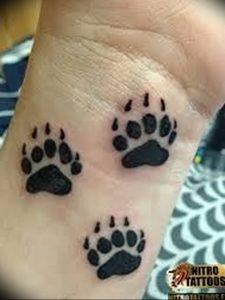 фото тату медвежья лапа от 30.09.2017 №107 - bear paw tattoo - tattoo-photo.ru