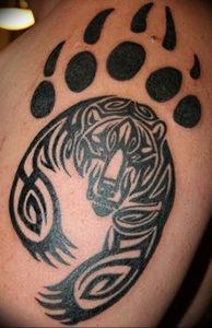 фото тату медвежья лапа от 30.09.2017 №110 - bear paw tattoo - tattoo-photo.ru