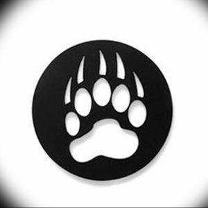 фото тату медвежья лапа от 30.09.2017 №111 - bear paw tattoo - tattoo-photo.ru