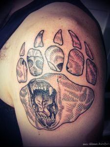 фото тату медвежья лапа от 30.09.2017 №112 - bear paw tattoo - tattoo-photo.ru 1415123