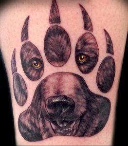 фото тату медвежья лапа от 30.09.2017 №112 - bear paw tattoo - tattoo-photo.ru 1415123 135123