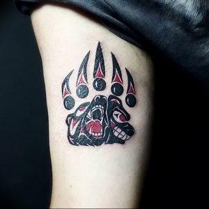 фото тату медвежья лапа от 30.09.2017 №118 - bear paw tattoo - tattoo-photo.ru