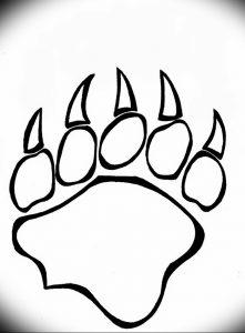 фото тату медвежья лапа от 30.09.2017 №121 - bear paw tattoo - tattoo-photo.ru