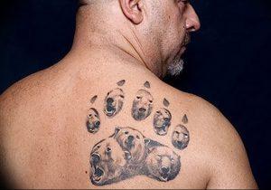 фото тату медвежья лапа от 30.09.2017 №124 - bear paw tattoo - tattoo-photo.ru