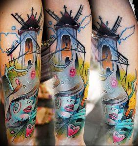 фото тату мельница от 30.10.2017 №024 - tattoo mill - tattoo-photo.ru