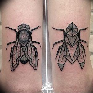 фото тату муха от 22.09.2017 №001 - Fly Tattoo - tattoo-photo.ru