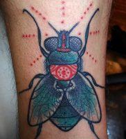 фото тату муха от 22.09.2017 №010 — Fly Tattoo — tattoo-photo.ru