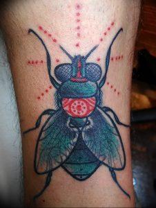 фото тату муха от 22.09.2017 №010 - Fly Tattoo - tattoo-photo.ru