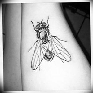 фото тату муха от 22.09.2017 №011 - Fly Tattoo - tattoo-photo.ru