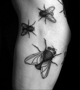 фото тату муха от 22.09.2017 №025 - Fly Tattoo - tattoo-photo.ru