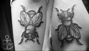 фото тату муха от 22.09.2017 №029 - Fly Tattoo - tattoo-photo.ru