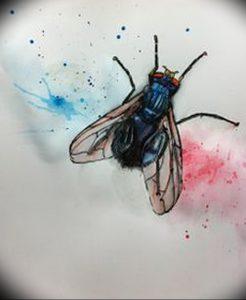 фото тату муха от 22.09.2017 №031 - Fly Tattoo - tattoo-photo.ru
