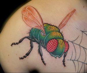 фото тату муха от 22.09.2017 №032 - Fly Tattoo - tattoo-photo.ru
