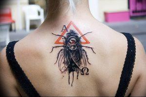 фото тату муха от 22.09.2017 №042 - Fly Tattoo - tattoo-photo.ru