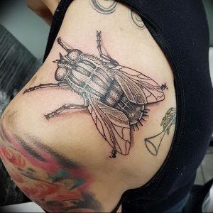 фото тату муха от 22.09.2017 №054 - Fly Tattoo - tattoo-photo.ru