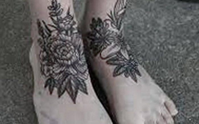 фото тату на щиколотке от 30.10.2017 №116 - ankle tattoo - tattoo-photo.ru