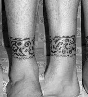 фото тату на щиколотке от 30.10.2017 №123 — ankle tattoo — tattoo-photo.ru