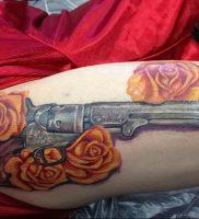 фото тату оружие от 05.09.2017 №091 — tattoo weapons — tattoo-photo.ru
