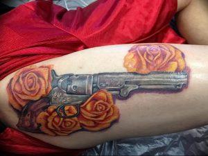 фото тату оружие от 05.09.2017 №091 - tattoo weapons - tattoo-photo.ru