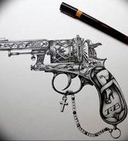 фото тату оружие от 05.09.2017 №095 — tattoo weapons — tattoo-photo.ru