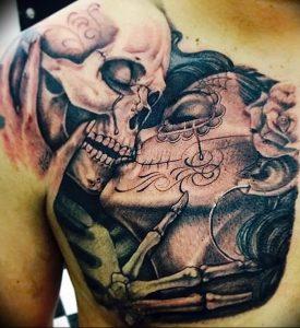 фото тату поцелуй от 22.09.2017 №001 - tattoo kiss - tattoo-photo.ru