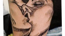 фото тату поцелуй от 22.09.2017 №096 - tattoo kiss - tattoo-photo.ru