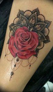 фото тату роза от 30.09.2017 №002 - rose tattoo - tattoo-photo.ru