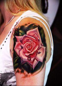 фото тату роза от 30.09.2017 №012 - rose tattoo - tattoo-photo.ru