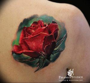 фото тату роза от 30.09.2017 №014 - rose tattoo - tattoo-photo.ru