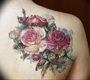 фото тату роза от 30.09.2017 №016 - rose tattoo - tattoo-photo.ru